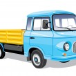 Mini cargo truck — Vector de stock
