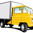 Yellow delivery truck - Stock Vector
