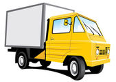 Yellow delivery truck — Stock Vector