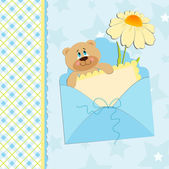 Baby's greetings card — Stock Vector