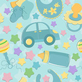 Seamless background baby's toys — Stock Vector