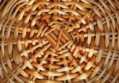 Sfondo di legno tessitura canna rattan — Foto Stock