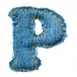 One letter of jeans alphabet — Stock Photo #3155887
