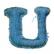 One letter of jeans alphabet - Stock Photo