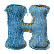 One letter of jeans alphabet - Stockfoto