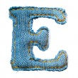 One letter of jeans alphabet — Stock Photo #3155903