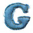 One letter of jeans alphabet — Stock Photo #3155904