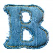 One letter of jeans alphabet — Stockfoto