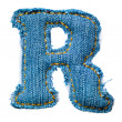 One letter of jeans alphabet — Stock Photo #3155908
