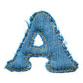 Jedno písmeno abecedy džíny — Stock fotografie