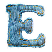 One letter of jeans alphabet — Fotografia Stock