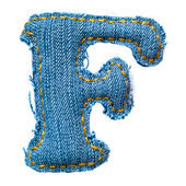 One letter of jeans alphabet — Stock Photo