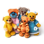 Family of teddy bear — Stock Photo
