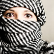 Close-up portret of a terrorist — Stock Photo