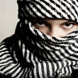 Close-up portret of terrorist — Stock Photo #2757757