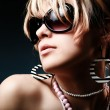 Fashion woman portrait wearing sunglasse - Stock Photo