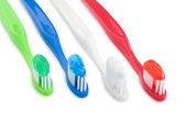 Toothbrush with toothpaste — Stock Photo