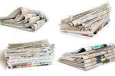 Collection of newspaper — Stock Photo