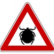 Tick warning sign — Stock Photo