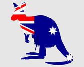 Flag of Australia with kangaroo — Stock Photo
