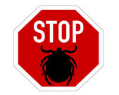 Stop sign for ticks — Stock Photo
