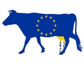 Europese melksubsidies — Stockfoto