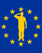 European salute — Stock Photo