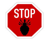 Stop sign for lice — Stock Photo