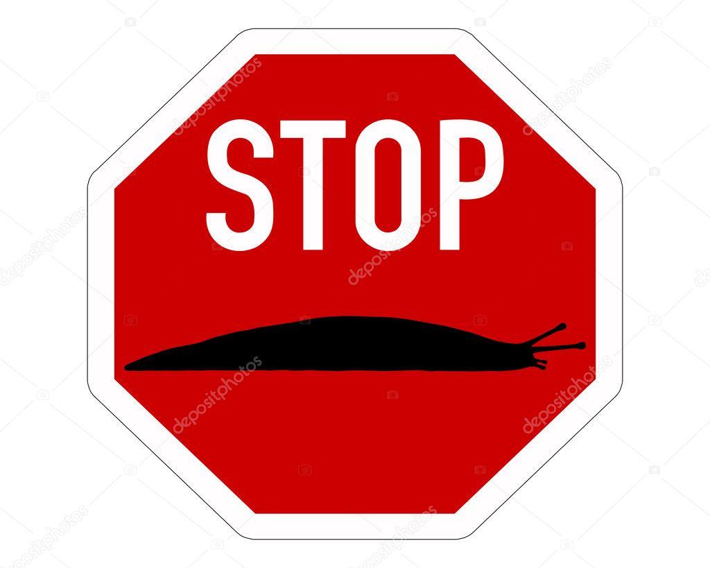 Panneau darr t pour les limaces photographie lantapix 3709764 - Prix d un panneau stop ...
