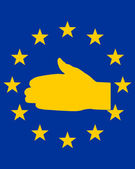 European handshake — Stock Photo