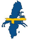 Swedish reindeer — Stock Photo