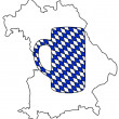 Bavarian stein — Stock Photo