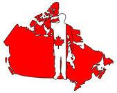 Canadian salute — Stock Photo