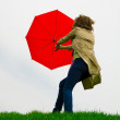 Women with umbrella — Stock Photo