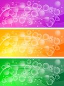 Set of bubbly banners (eps 10) — Stock Vector