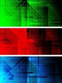 Set of dark textural banners (eps 10) — Stock Vector