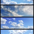 Sky banners collection — Stock Photo