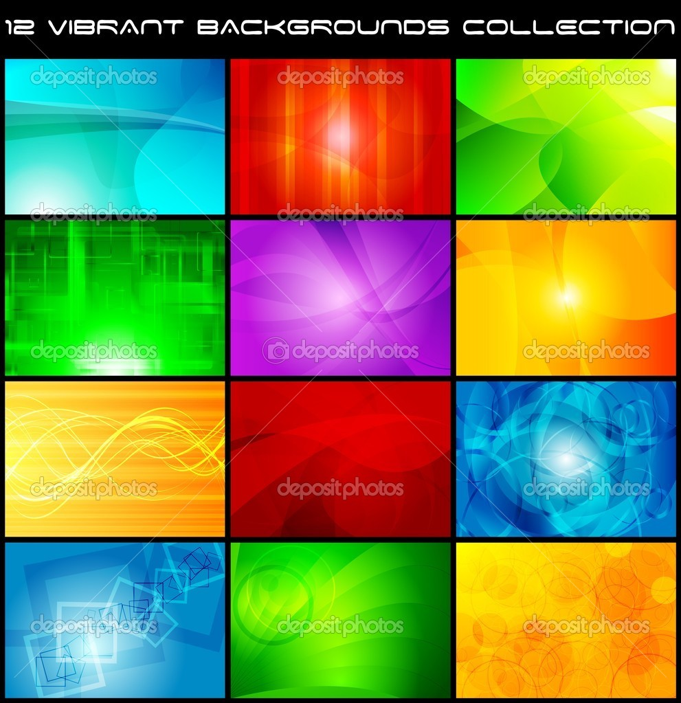 Set of bright abstract backgrounds - eps 10 — Stock Vector #3394064