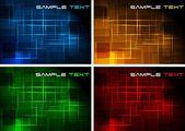 Simple dark backgrounds — Stock Vector