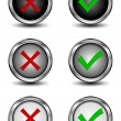 Stock Vector: Check mark buttons