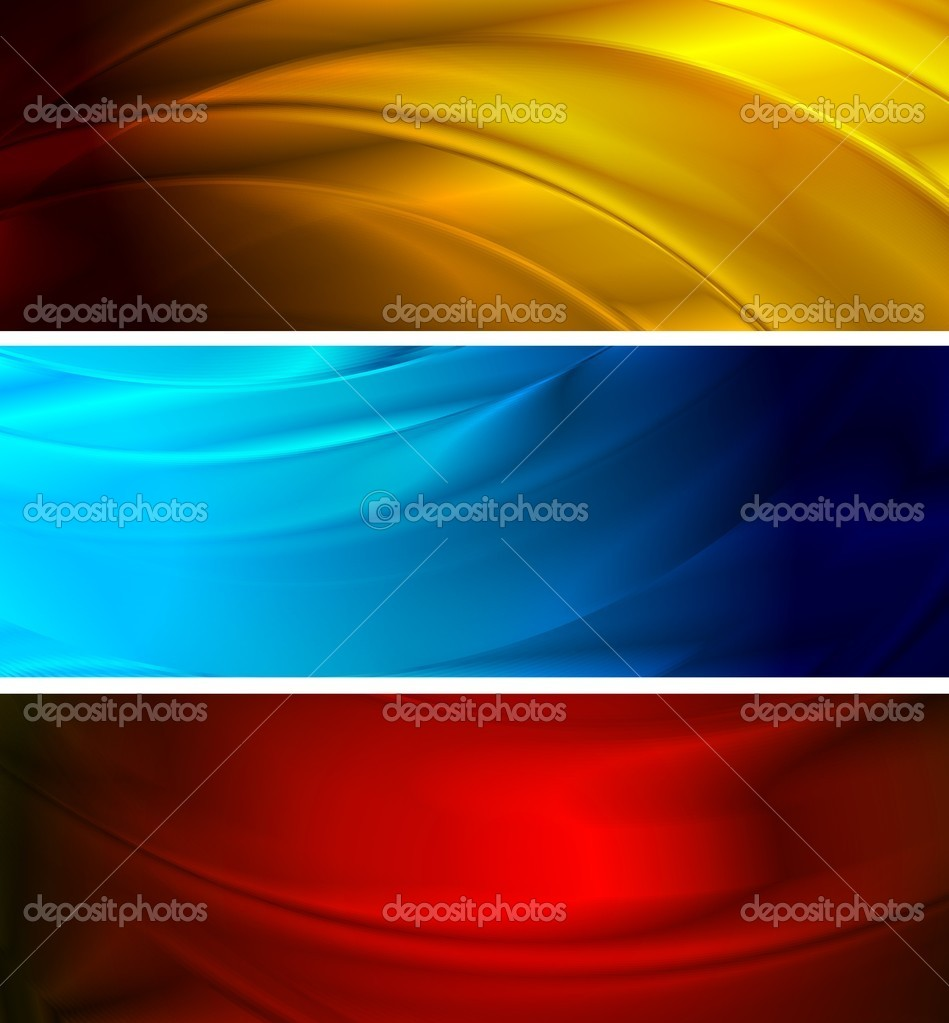 Abstract silk banners (NO gradient mesh, eps 10) — Stock Vector #3844865
