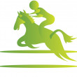 Stock Vector: Horse riding,
