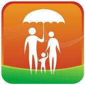 Familie Sicherheit Versicherung — Stockvektor