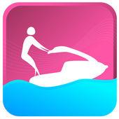 Jet Ski - Water Sports — Stock Vector