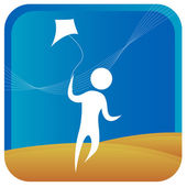 Kite flying — Stock Vector