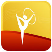 Gymnastics Sports — Stockvektor