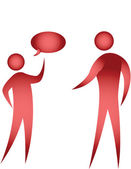 Chatting, communication — Stock Vector