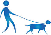 Dog walk — Stock Vector