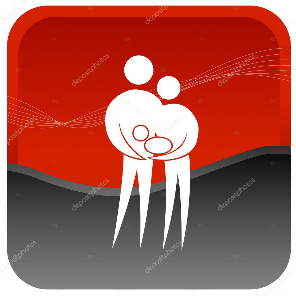 Human couple holding a baby in hand — Stock Vector #3701337