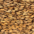 Stock Photo: Background from rural woodpile